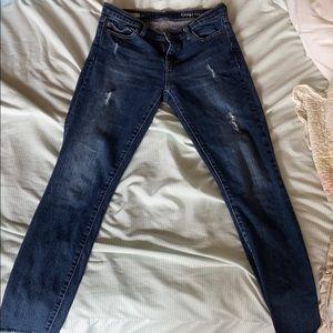 Ripped true skinny jeans